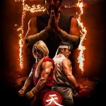 Assassins Fist -official poster Master Gouken, Ken and Ryu