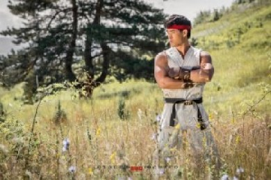 Ryu in the field...