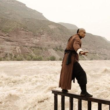 Balancing while river rages below!