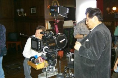 Drunken Master producer Ng See-yuen on set