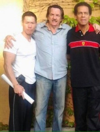 David with two legends -can you guess