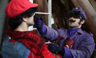 Mario must stand his ground against Waluigi