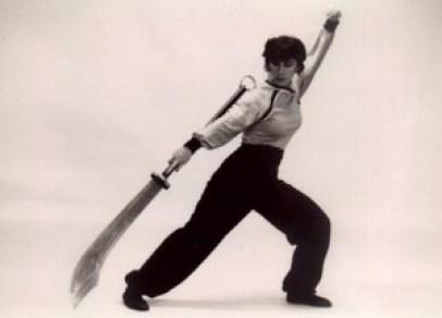 Malia Bernal long sword