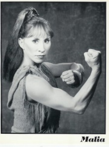 Malia in 1970 well-armed!