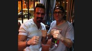 John with the late Darren Shahlavi, RIP
