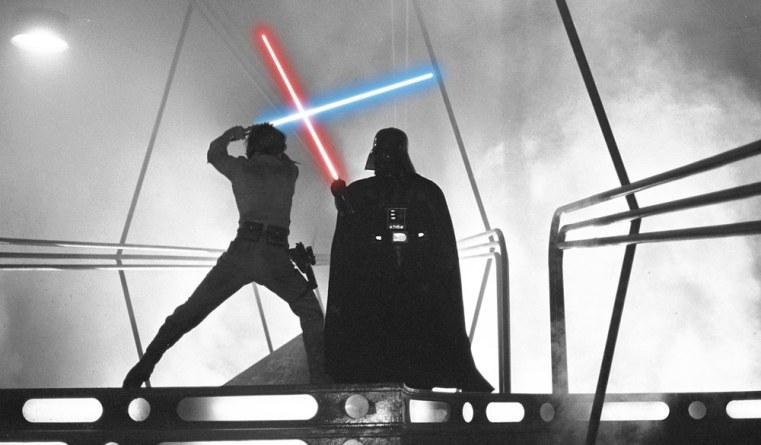 Classic Luke Skywalker vs Darth Vader
