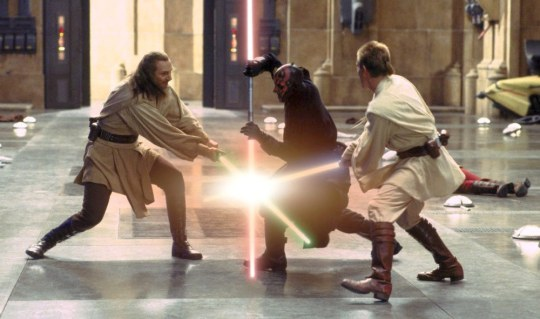 Darth Maul's deadly skills mean he can take on two Jedi at once