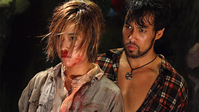 Kazu Patrick Tang with Jeeja Yanin in Raging Phoenix