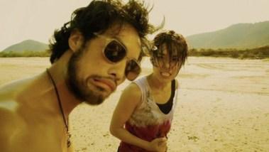 Kazu with Jeeja in Raging Phoenix -beach slap scene!
