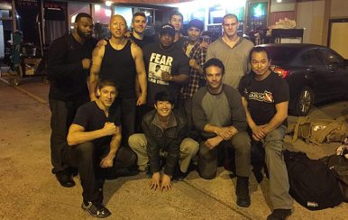 Larnell and co prepare for Kickboxer Vengeance