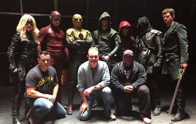 Larnell prepares the cast of Arrow and The Flash for Superhero Fight Club