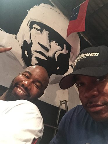 Larnell with Michael Jai White
