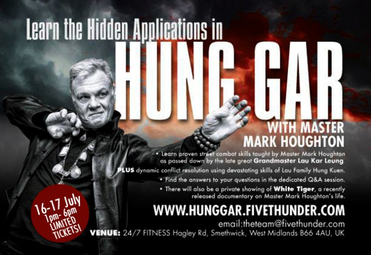 Hidden Applications in Hung Gar -seminar 16-17 July, BIRMINGHAM