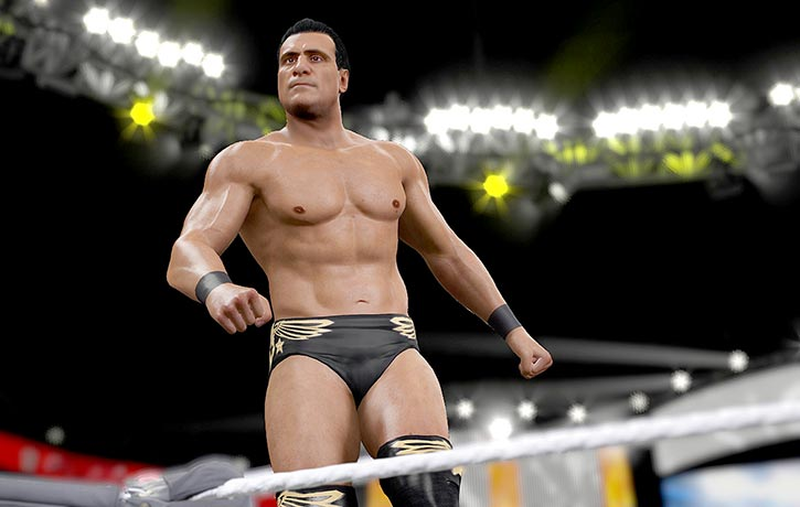 Alberto Del Rio checking on the fans!