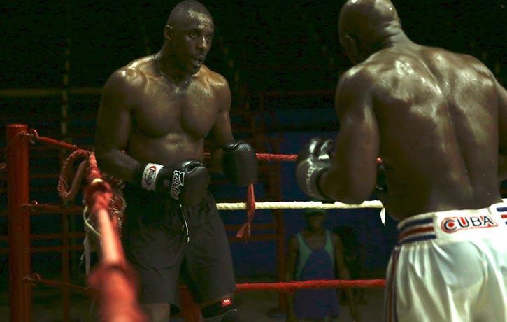 Cuban boxer Emilio Correa pushes Idris all the way during his Havana training camp