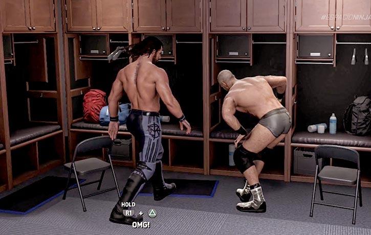 Taking it to the locker room!