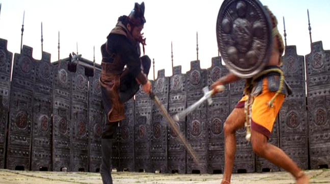 The Indian martial art featured is based on Kalaripayattu