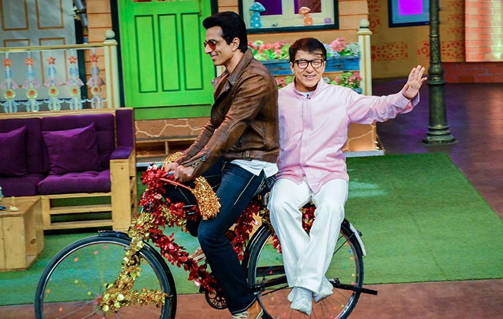 Jackie Chan having fun promoting Kung Fu Yoga