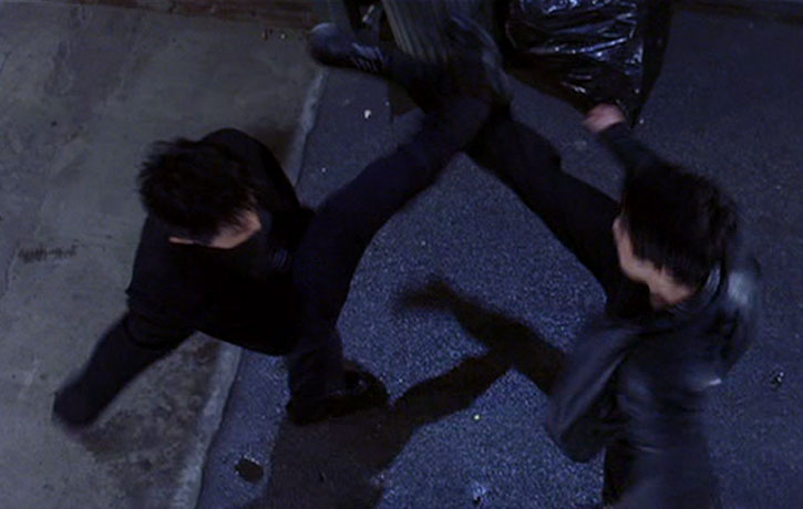 Clash of kicks with Johnny Nguyen