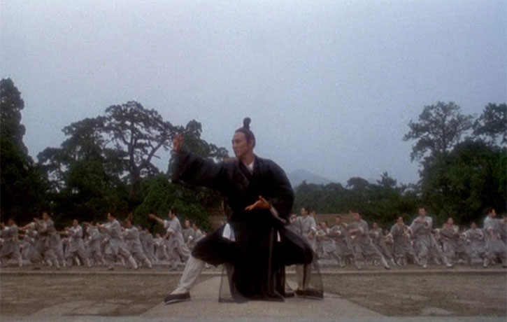 Jet Li leads the Tai Chi Form