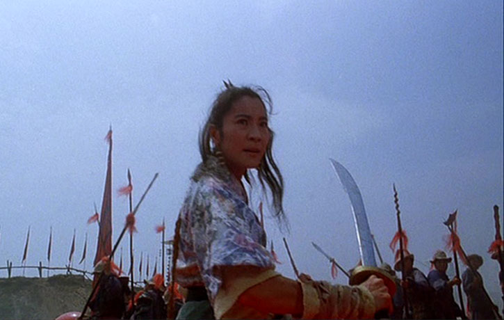 Michelle Yeoh is equally skilled with weapons