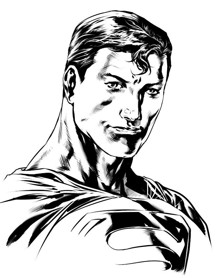 Caanan's rendering of the Man of Steel!