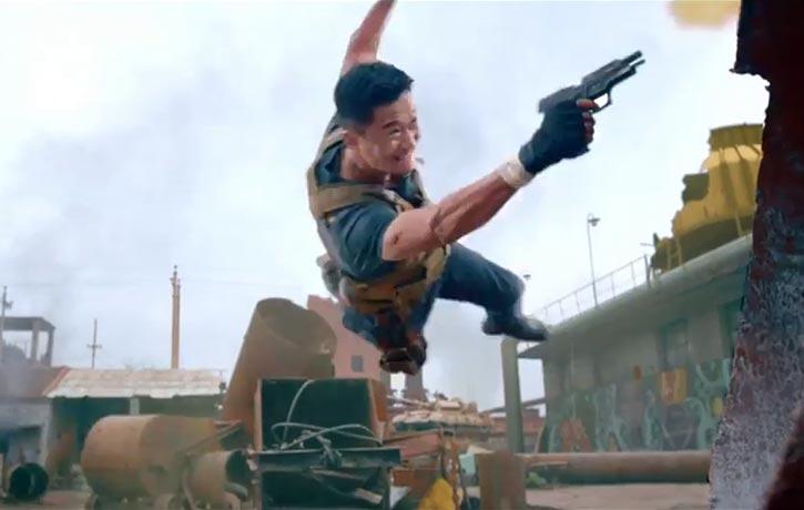 Leng Feng lines up an aerial shot