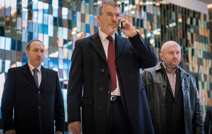 Pierce Brosnan plays Liam Hennessy