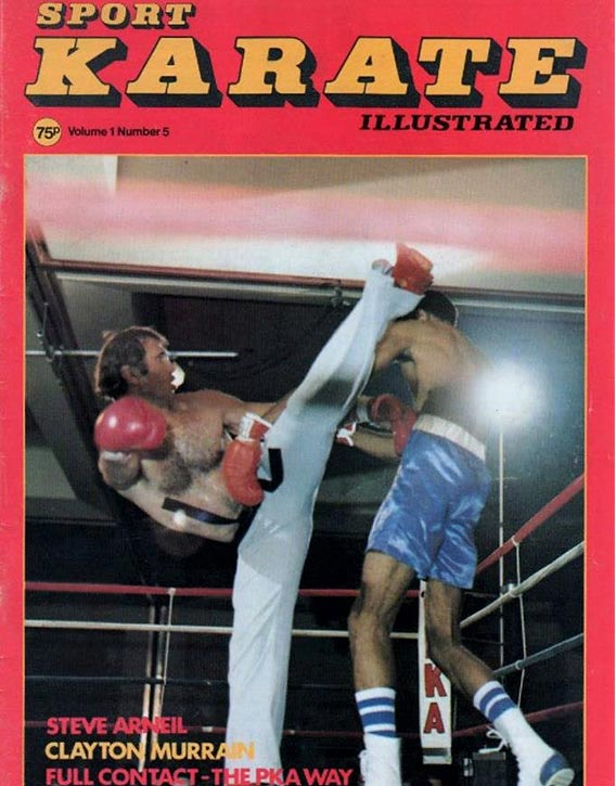 Bill on the cover of Sport Karate Illustrated