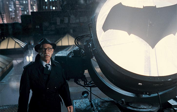 Commissioner Gordon sends out the Bat-Signal