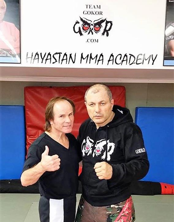 Gokor with kickboxing legend Benny The Jet Urquidez