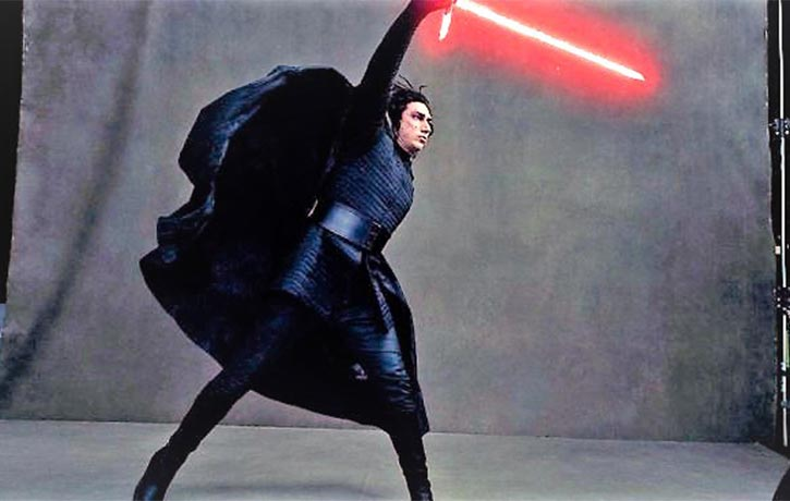 Adam Driver worked out for his role as Kylo Ren