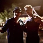 Alain with Jean-Claude Van Damme on the set of Kickboxer Retaliation