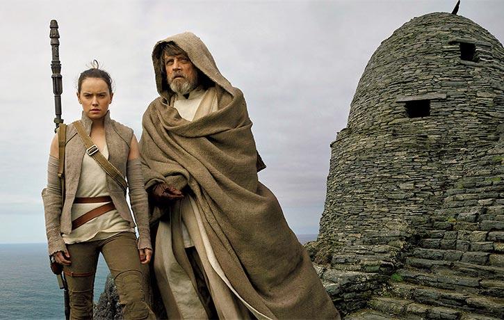 Rey begins her training with Jedi Master Luke Skywalker
