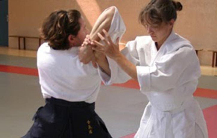 This student gets to grips with Shiho Nage - 4 directional throw