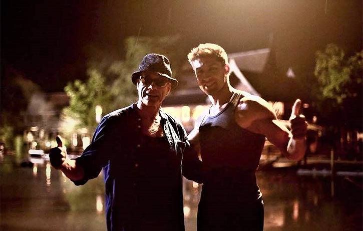 For Kickboxer Retaliation, Dimitri gets to direct the original Nuk Soo Kow, Jean-Claude Van Damme!