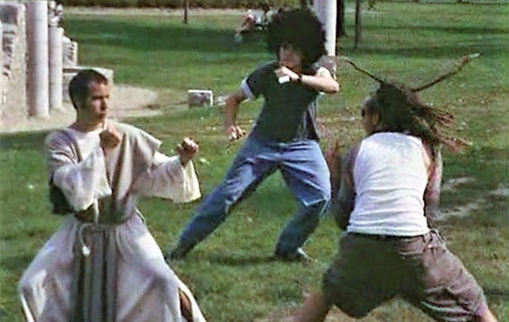 Jesus takes his fighting stance