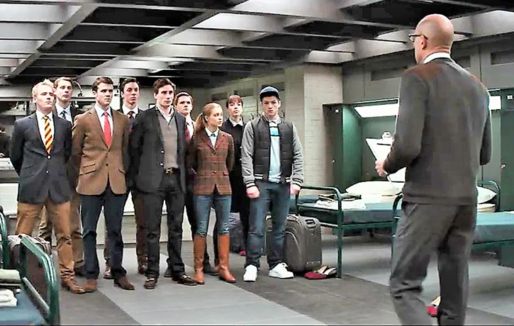 Merlin prepares Kingsman's new recruits for their rigorous training
