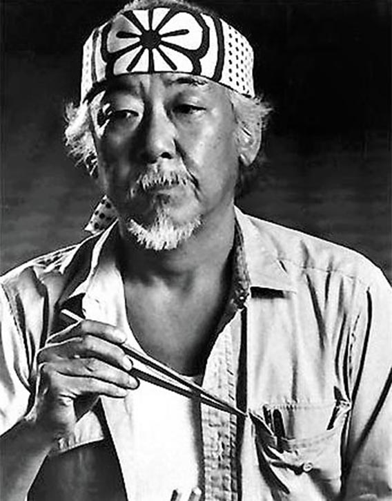 Pat Morita aka Mr Miyagi from The Karate Kid movies