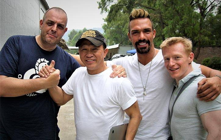 Mike and crew with the late Darren Shahlavi (RIP)
