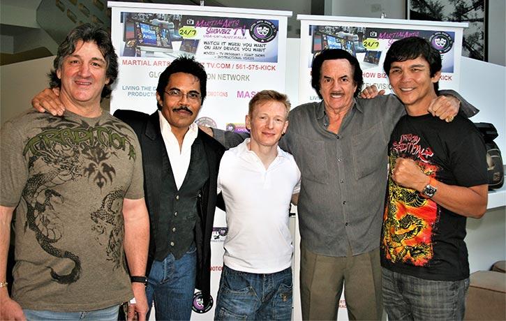 Mike with Art Camacho, Don The Dragon Wilson & Bob Wall!