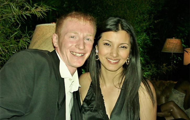 Mike with Kelly Hu