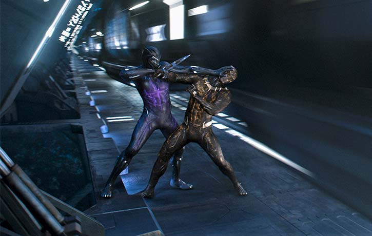 T'Challa and Killmonger face off