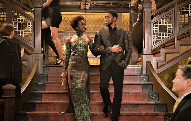 T'Challa and Nakia working undercover