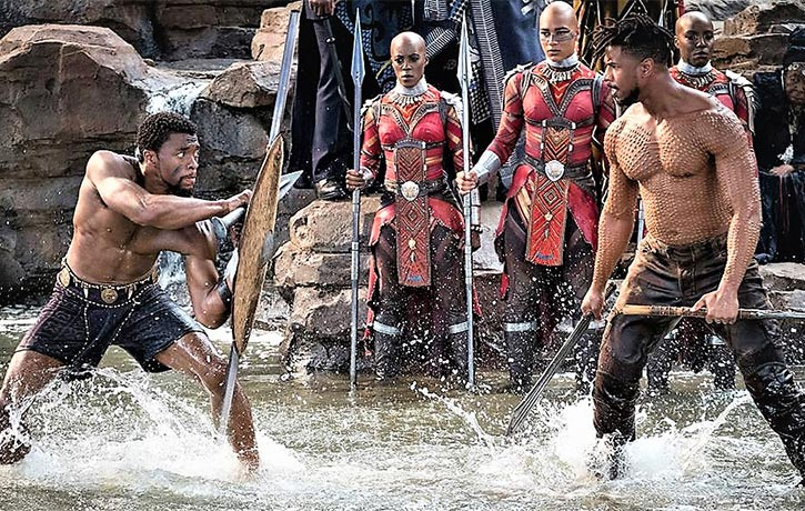 T'Challa stands his ground against Killmonger!