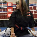 Cynthia oversees the dojo in The Martial Arts Kid
