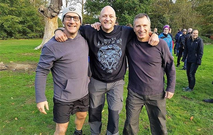 The three musketeers of Karate from left to right - Shihan Dan Lewis, Shihan Gavin Mulholland & Sensei Goran Powell