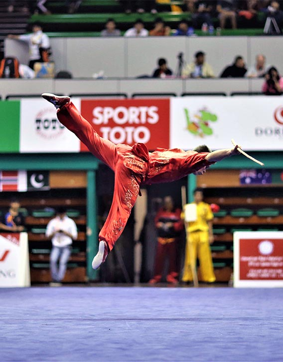 The wushu tournament is open to all