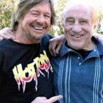 Gene with pro-wrestler Rowdy Roddy Piper (RIP)