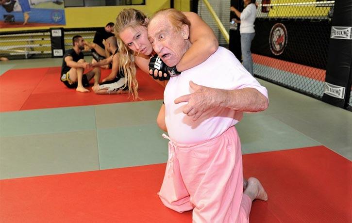 Ronda gets a lock on her mentor, Gene!